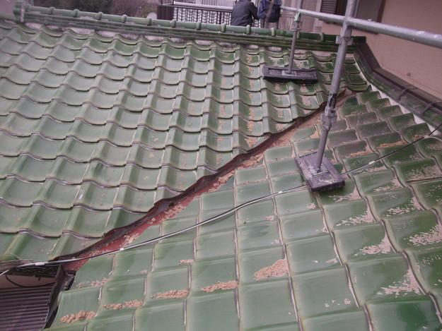 和風から洋風の屋根リフォーム葺き替え工事ビフォー写真DSCF2575