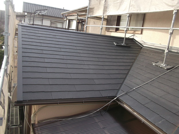 和風から洋風の屋根リフォーム葺き替え工事完了DSCF2676