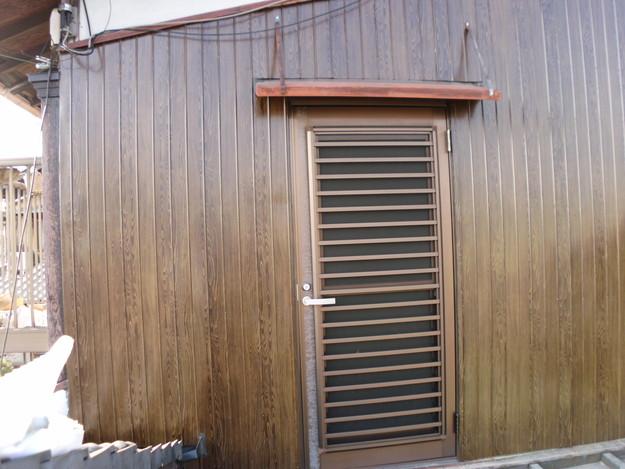 外壁トタンの交換工事完了DSCI1192