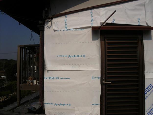 外壁トタンの交換工事施工中DSCI1190