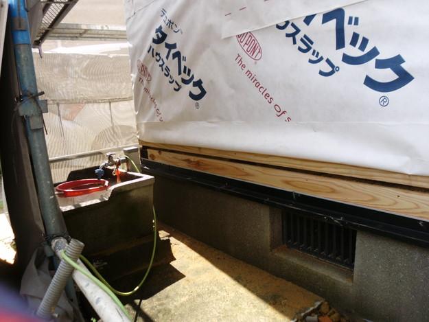 外壁モルタルと土台水切りまわりのリフォームDSCI1374