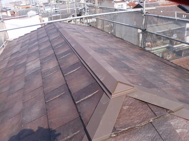屋根のリフォームハイブリッド瓦敷設完了写真DSCI1155