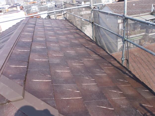 屋根のリフォームハイブリッド瓦敷設完了写真DSCI1157