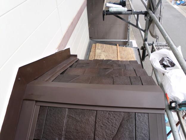 屋根のリフォームハイブリッド瓦敷設完了写真DSCI1168