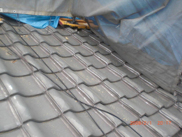 屋根のリフォーム施工前写真CIMG2533