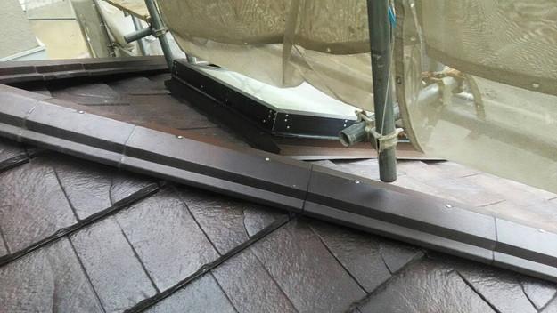 屋根のリフォーム神戸市新設屋根材ハイブリッド瓦完了1461820980133