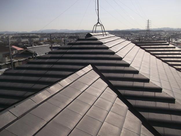屋根のリフォーム葺き替え工事ビフォーDSCF4162