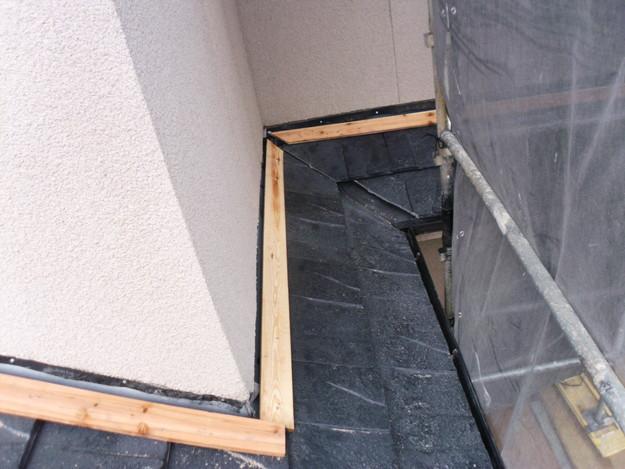 屋根のリフォーム葺き替え工事新設屋根材設置中DSCI1302