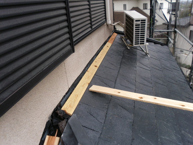 屋根のリフォーム葺き替え工事新設屋根材設置中DSCI1304