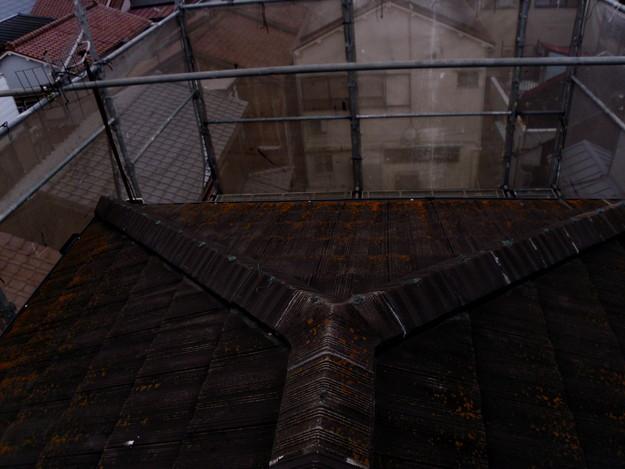 屋根のリフォーム葺き替え工事施工前DSCI1094