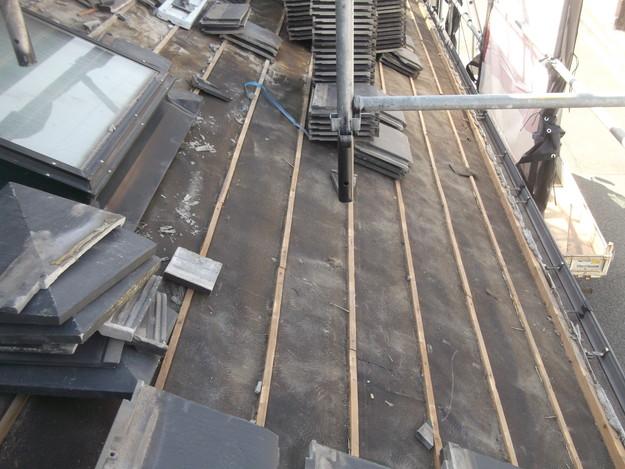 屋根のリフォーム葺き替え工事既存屋根解体DSCF4192