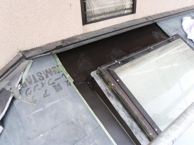 屋根のリフォーム葺き替え工事防水ルーフィングシート敷設DSCI1278