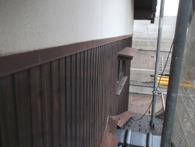 屋根リフォーム新設瓦材敷設作業DSCF2938