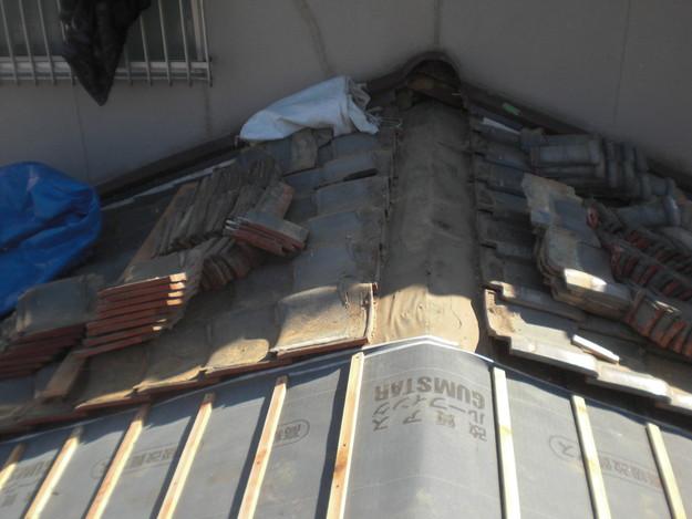 屋根修理ルーフィング防水シート張替工事CIMG2306