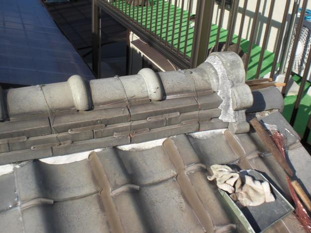 屋根修理棟瓦積替工事施工前CIMG2292