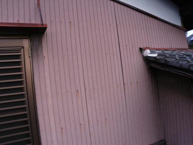屋根板金と外壁トタンの交換工事施工前DSCI1175