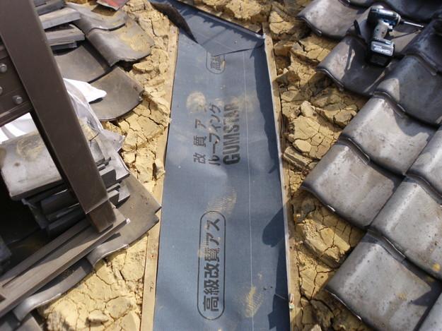 屋根板金交換工事施工中DSCI1181