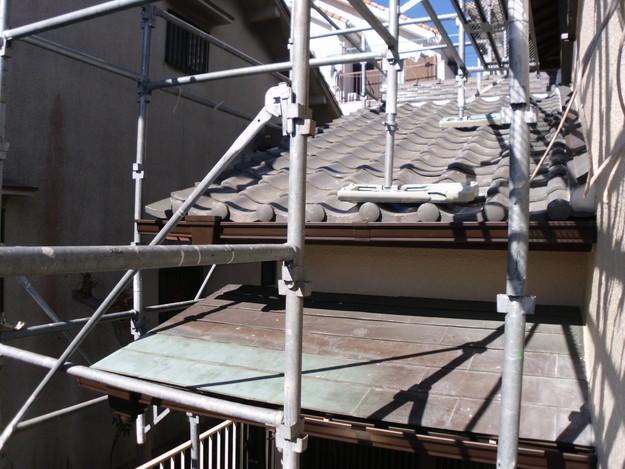 神戸市雨樋工事施工中DSCI1048