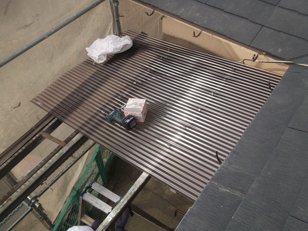 雨樋工事と波板設置DSCF2655
