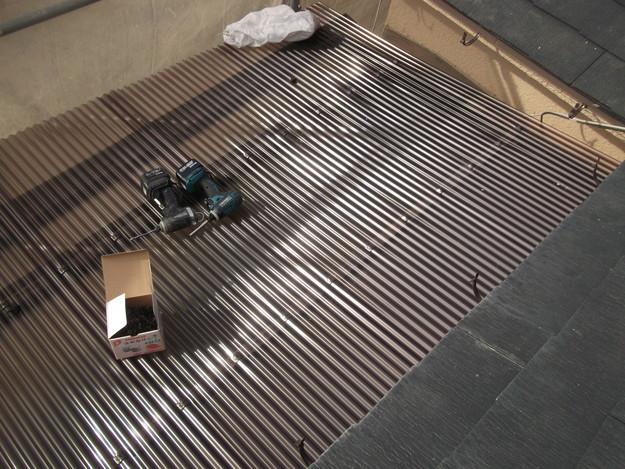 雨樋工事と波板設置DSCF2656