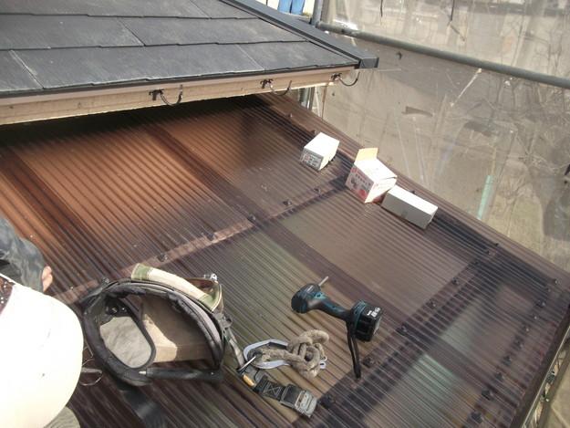 雨樋工事と波板設置DSCF2658