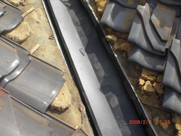 雨漏り・台風対策屋根修理施工中CIMG2582