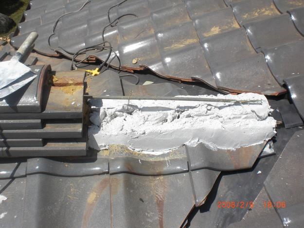 雨漏り・台風対策屋根修理施工中CIMG2585