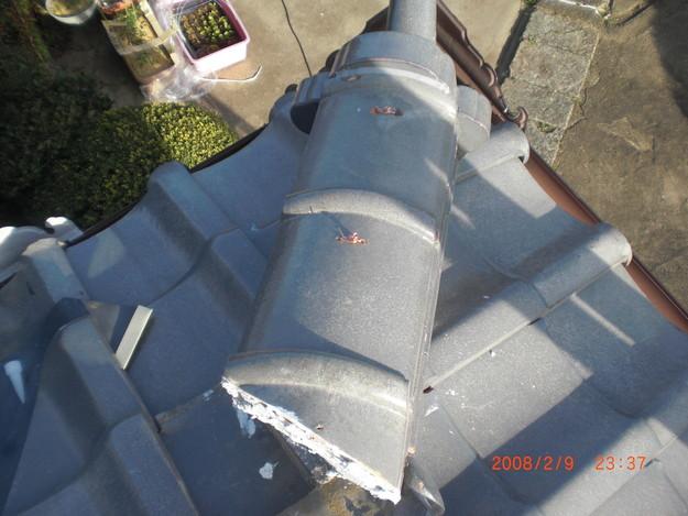 雨漏り・台風対策屋根修理施工中CIMG2596