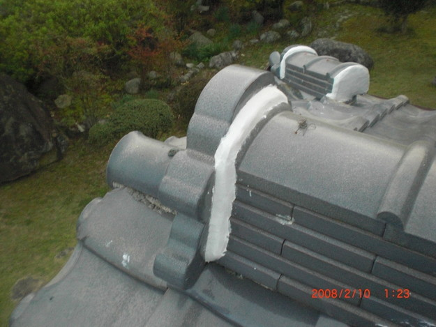 雨漏り・台風対策屋根修理施工中CIMG2607