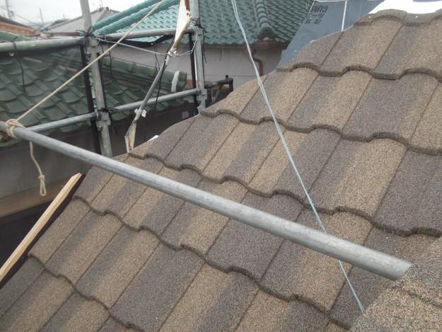 高級高性能洋風金属瓦によるカバー工法屋根リフォーム工事DSCF2765