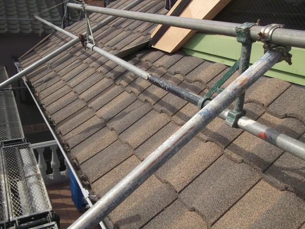 高級高性能洋風金属瓦によるカバー工法屋根リフォーム工事DSCF2767