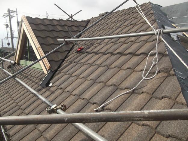 高級高性能洋風金属瓦によるカバー工法屋根リフォーム工事DSCF2786