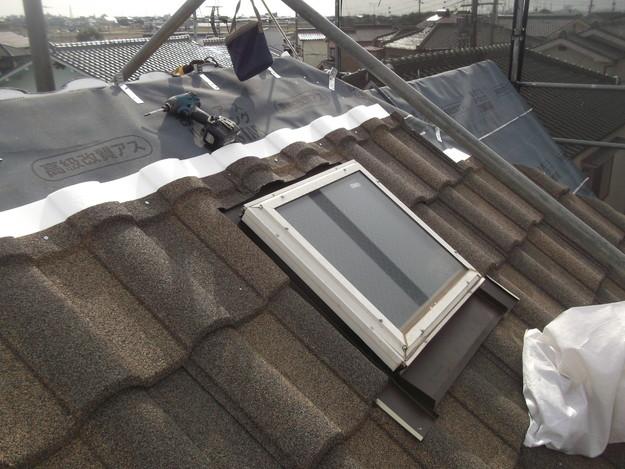 高級高性能洋風金属瓦によるカバー工法屋根リフォーム工事DSCF2787