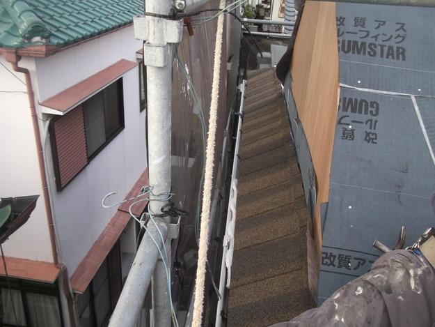 高級高性能洋風金属瓦によるカバー工法屋根リフォーム工事DSCF2790