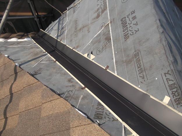 高級高性能洋風金属瓦によるカバー工法屋根リフォーム工事DSCF2791