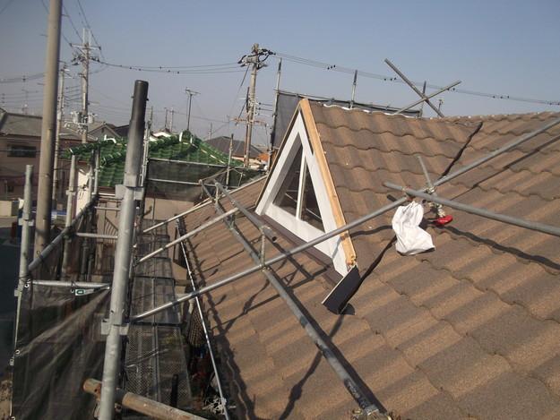 高級高性能洋風金属瓦によるカバー工法屋根リフォーム工事DSCF2803