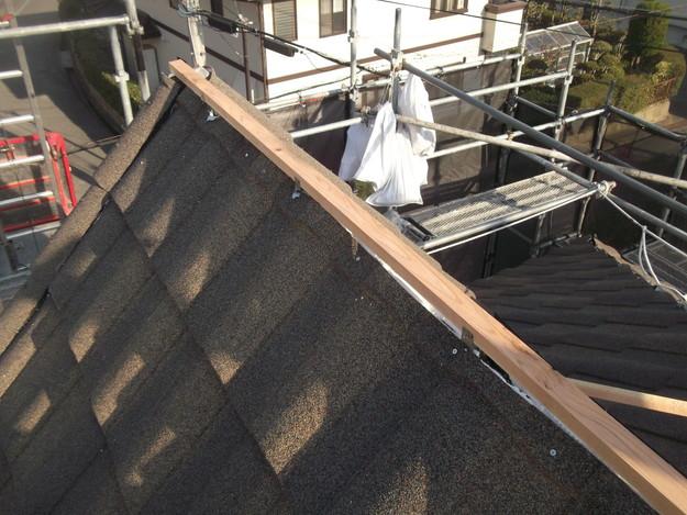 高級高性能洋風金属瓦によるカバー工法屋根リフォーム工事DSCF2825