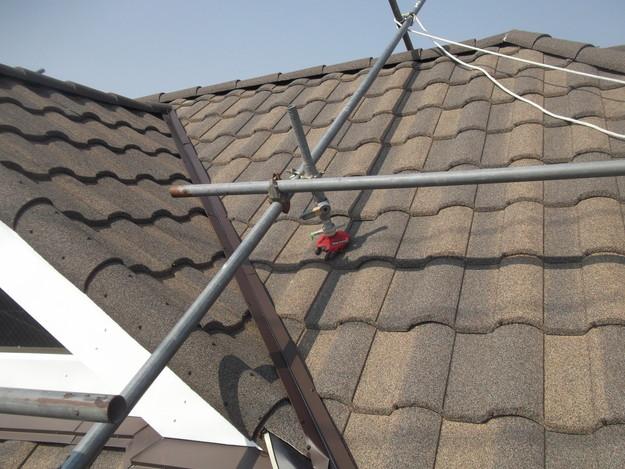 高級高性能洋風金属瓦によるカバー工法屋根リフォーム工事DSCF2840