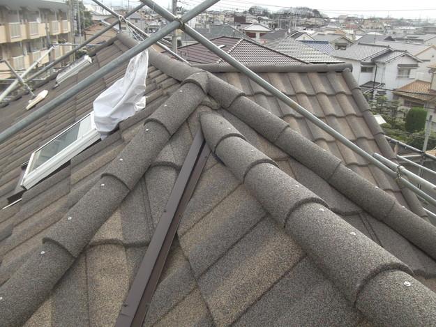 高級高性能洋風金属瓦によるカバー工法屋根リフォーム工事DSCF2918