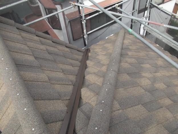 高級高性能洋風金属瓦によるカバー工法屋根リフォーム工事DSCF2923