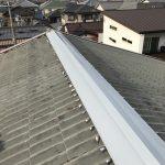 台風、雨漏り対策修理工事(棟板金工事)ビフォーアフター(相生市)