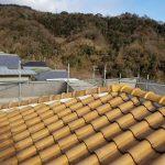 屋根メンテナンス工事(棟積み直し&漆喰工事)ビフォーアフター(神戸市)