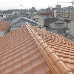 台風、雨漏り対策修理工事(棟積み替え工事)ビフォーアフター(神戸市)