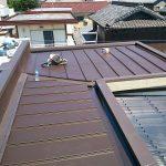 雨漏り対策修理工事(立平板金工事) ビフォーアフター(高砂市)