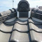 屋根メンテナンス工事(漆喰&谷板金交換工事)ビフォーアフター(神戸市)