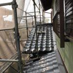 屋根メンテナンス工事(下屋根葺き替え工事)ビフォーアフター(神戸市)