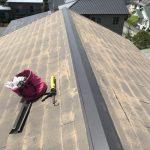屋根メンテナンス工事(棟板金交換&カラーベスト補修工事)ビフォーアフター(明石市)