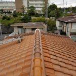 屋根メンテナンス工事(棟積み直し工事)ビフォーアフター(神戸市)