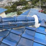 台風、雨漏り対策修理工事(棟部分積み直し工事)ビフォーアフター(神戸市)