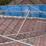 屋根メンテナンス工事(棟積み直し&波板交換工事)ビフォーアフター(神戸市)